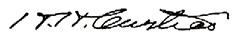 Harlow T. Curtice (signature)